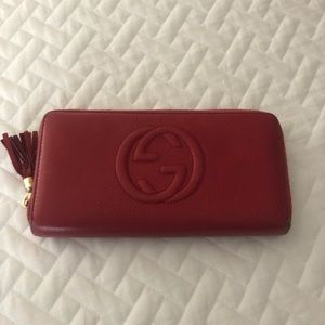 Gucci SoHo Wallet - Red Leather -